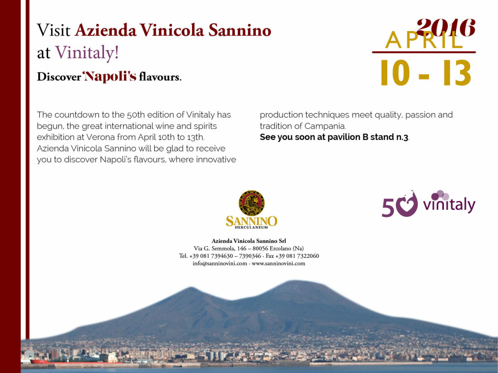 Vinitaly 2016 tasting Sannino